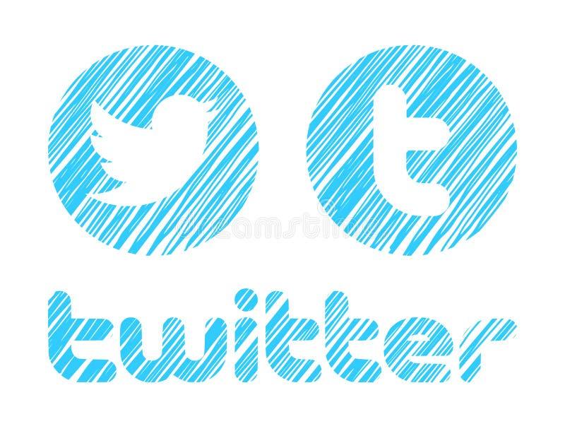 Twitter-Embleem vector illustratie