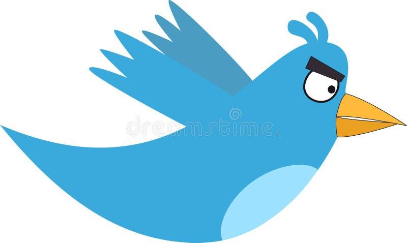 Twitter fâché illustration de vecteur