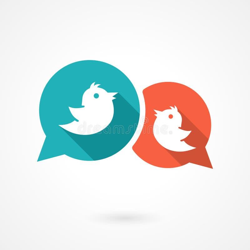 Twitter fåglar vektor illustrationer