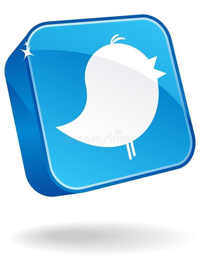 twitter för symbol 3d