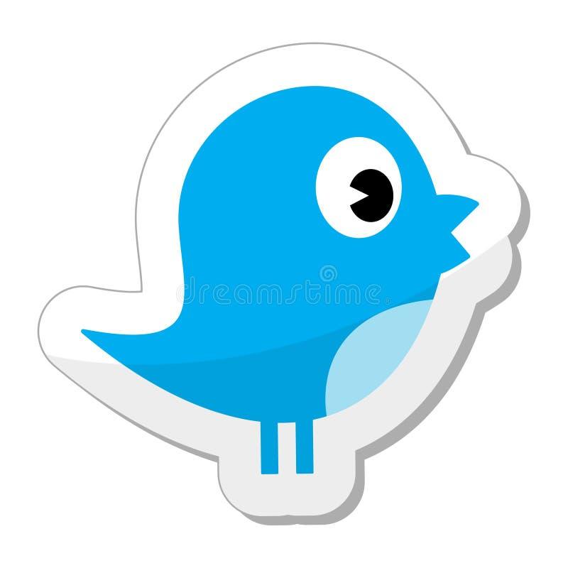 Twitter/icona sociale dell'uccello di media royalty illustrazione gratis