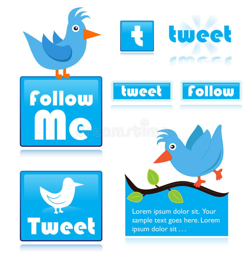 Twitter icons royalty free stock images