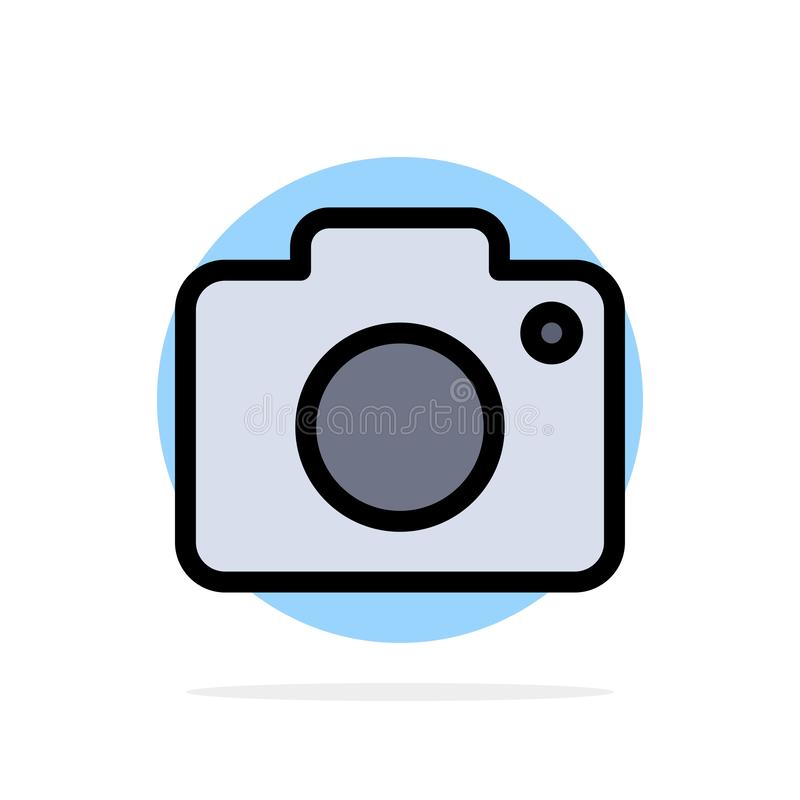 Twitter, Image, Picture, Camera Abstract Circle Background Flat color Icon royalty free illustration