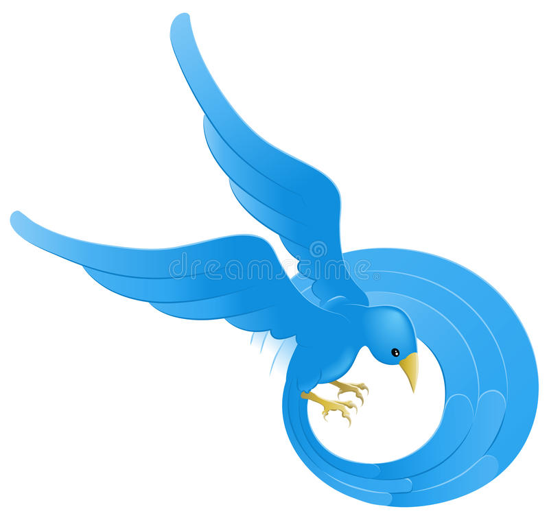 Download Twitter ing blue bird icon stock vector. Image of bird - 9818039