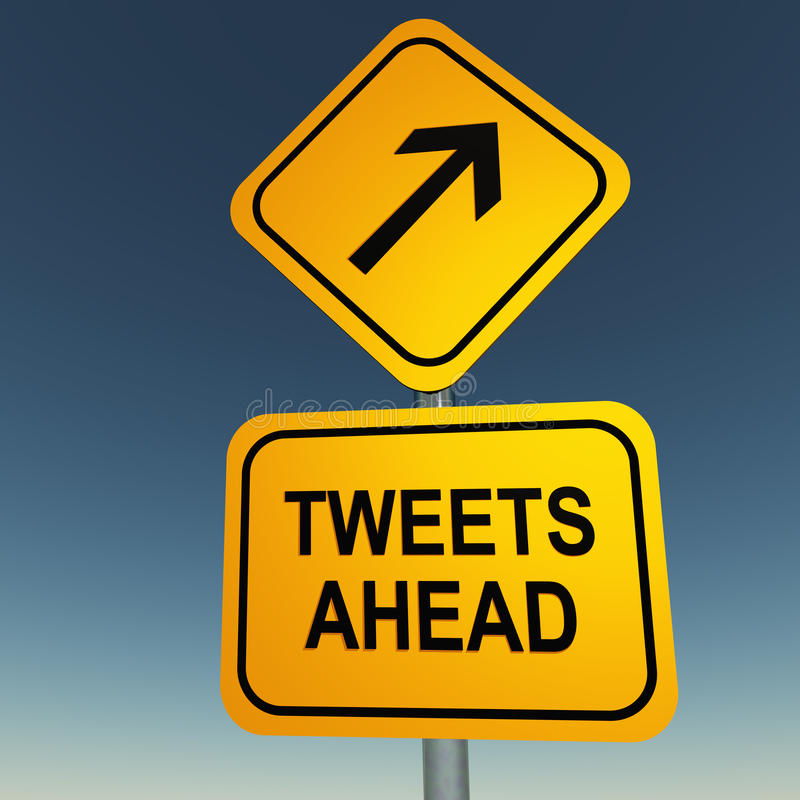 Twitter pia a continuación ilustración del vector