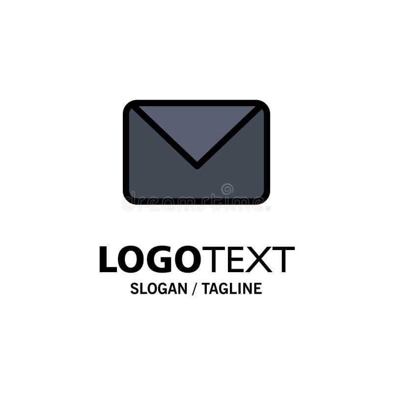Twitter, poczta, Sms, gadka logo Biznesowy szablon p?aski kolor ilustracji