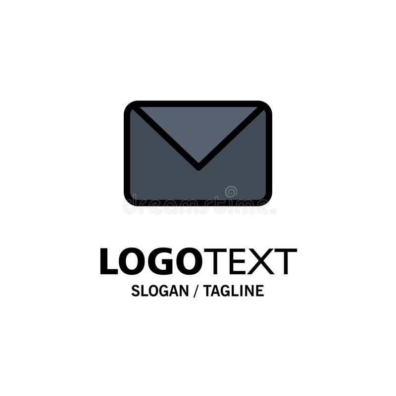 Twitter, Post, Sms, Praatjezaken Logo Template vlakke kleur stock illustratie