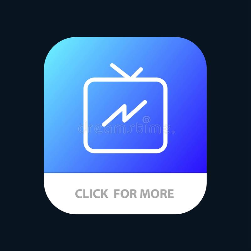 Twitter, Power, Refresh Mobile App Button. Android and IOS Line Version vector illustration