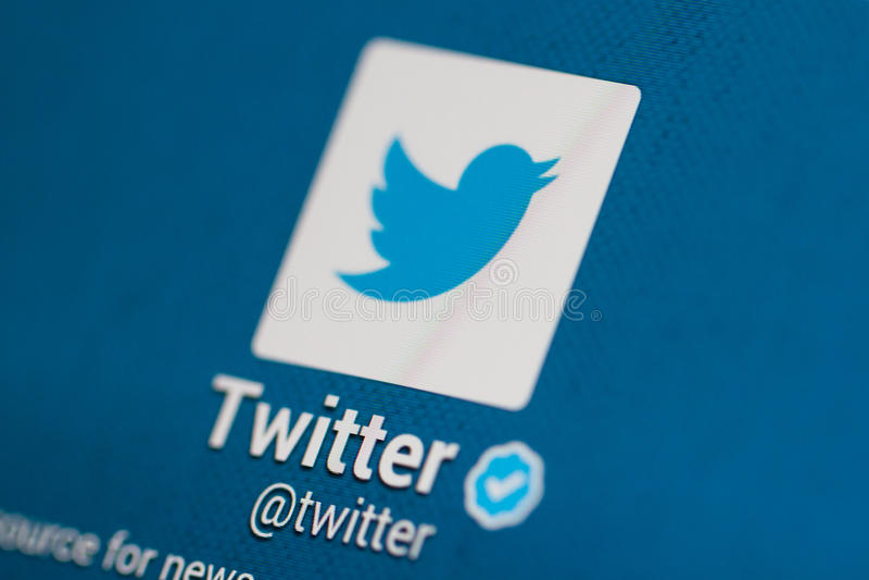 Twitter-Rekening stock foto