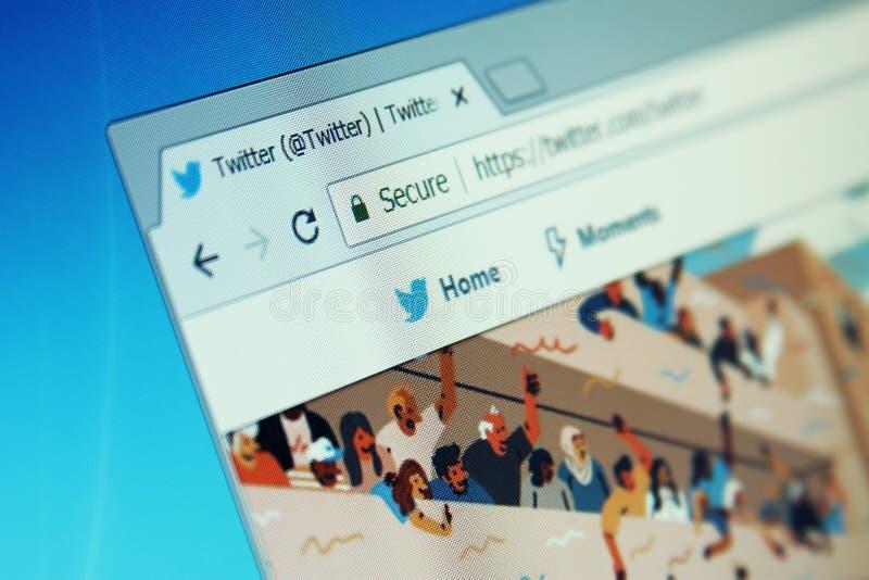 Twitter-Social Media-Website stockfoto