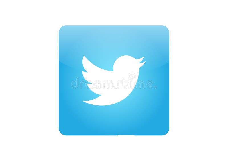 Twitter symbol arkivbilder