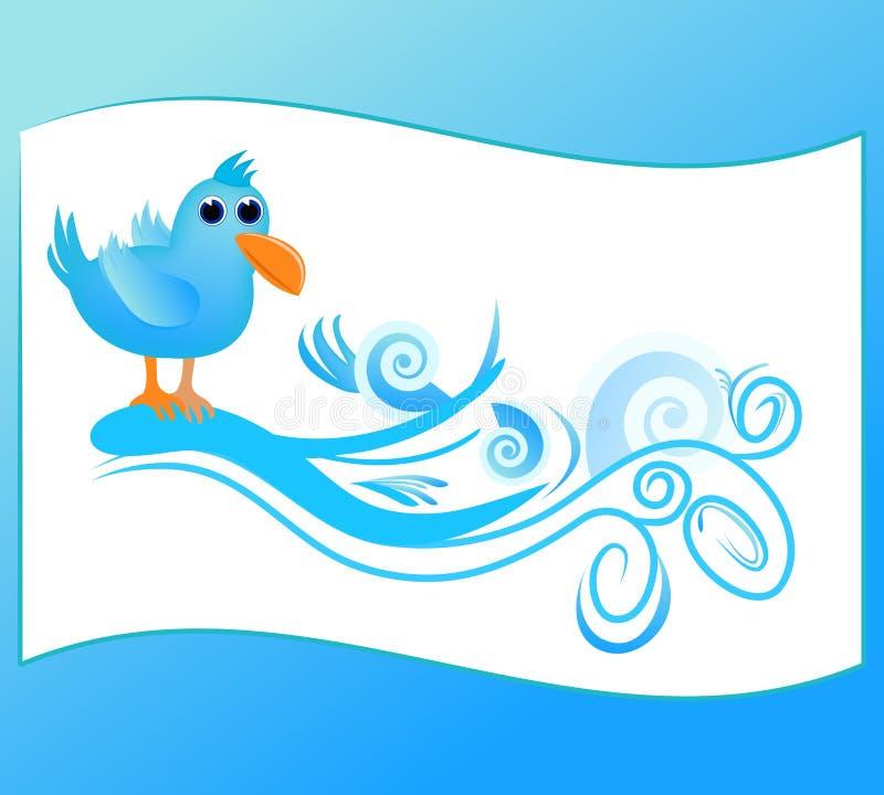 Twitter theme vector illustration
