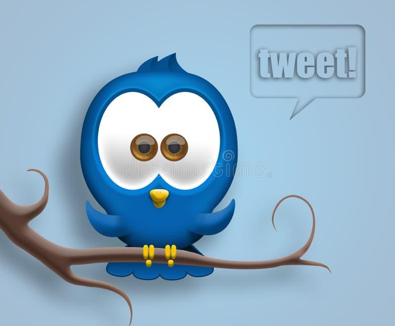 Twittervogel lizenzfreie abbildung