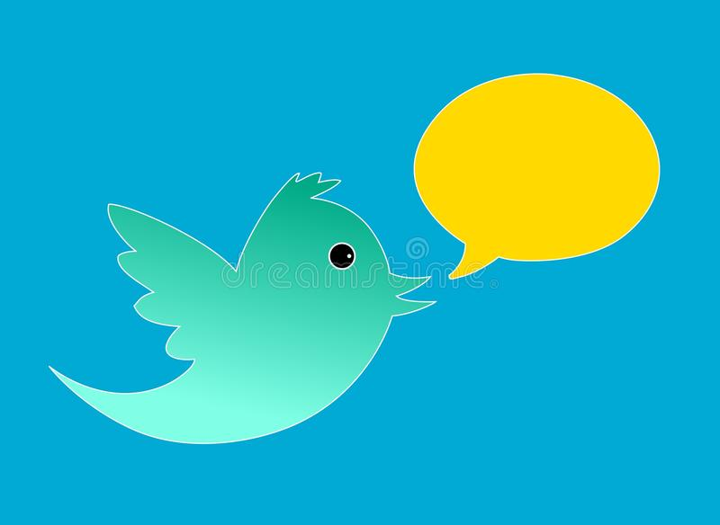 Twittervogel vektor abbildung