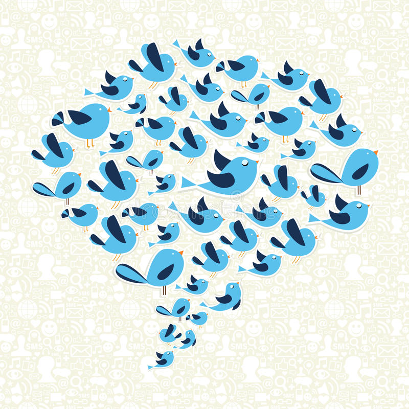 Download Twitting Social Birds Campaign Stock Vector - Image: 27935243