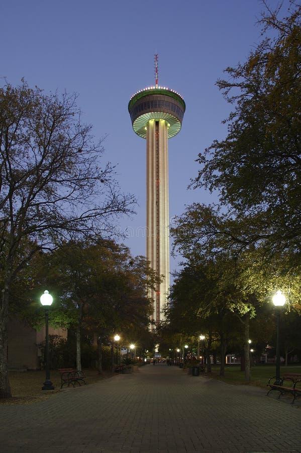 Twlight na torre de América fotografia de stock royalty free