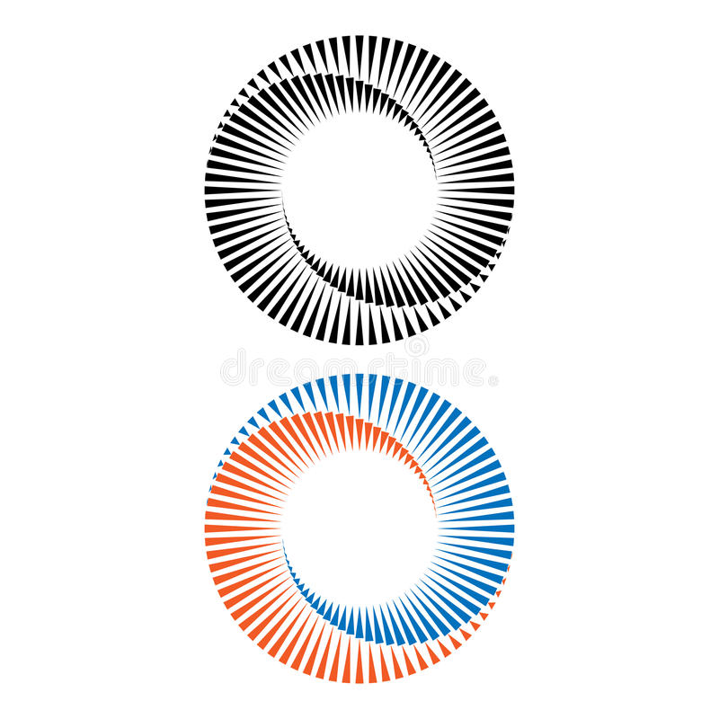 Two abstract spirals vector illustration