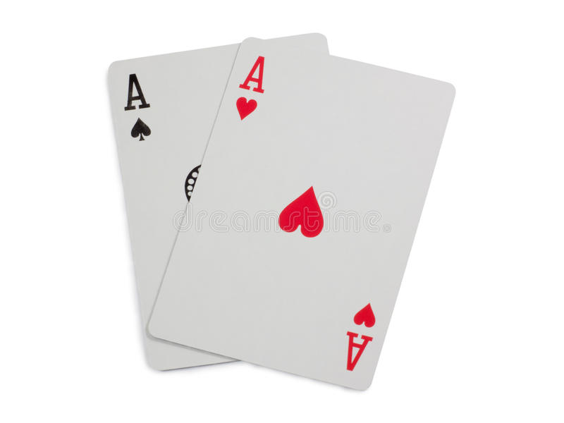 Two aces stock image