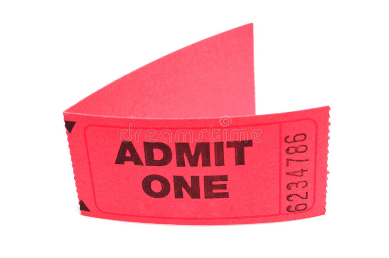 Two Admit One Tickets royalty free stock photos