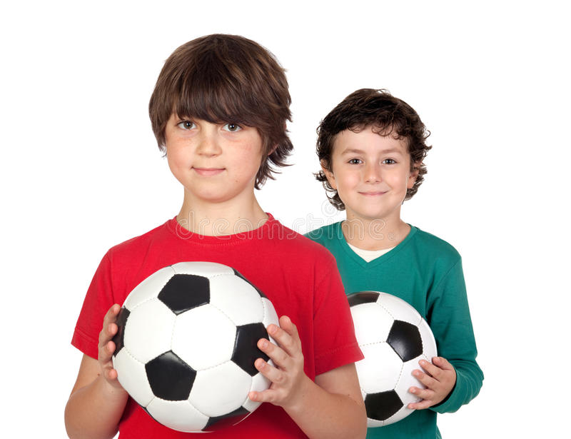 Two adorable children stock photography