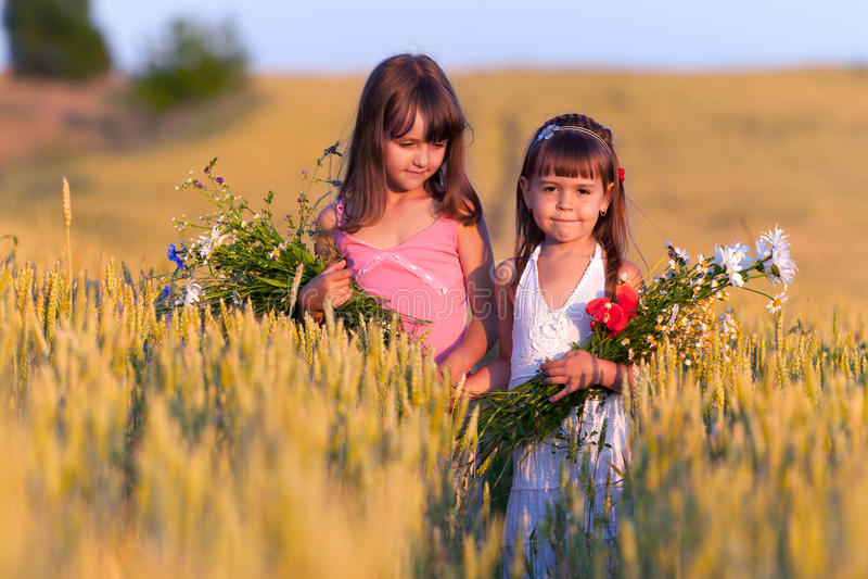 Download Two adorable girls stock image. Image of colorfu, morning - 20853653