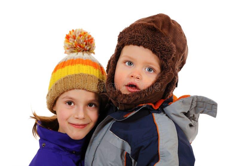 Two adorable kids stock photos
