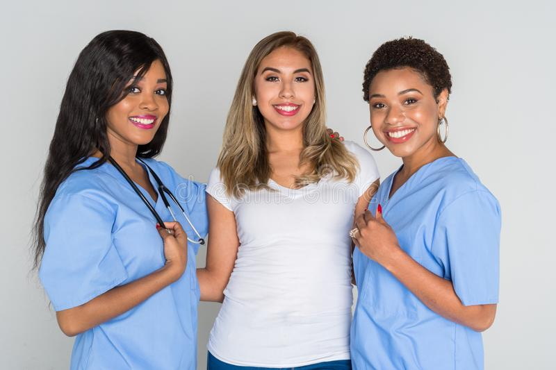 Nurses With A Patient stock photo
