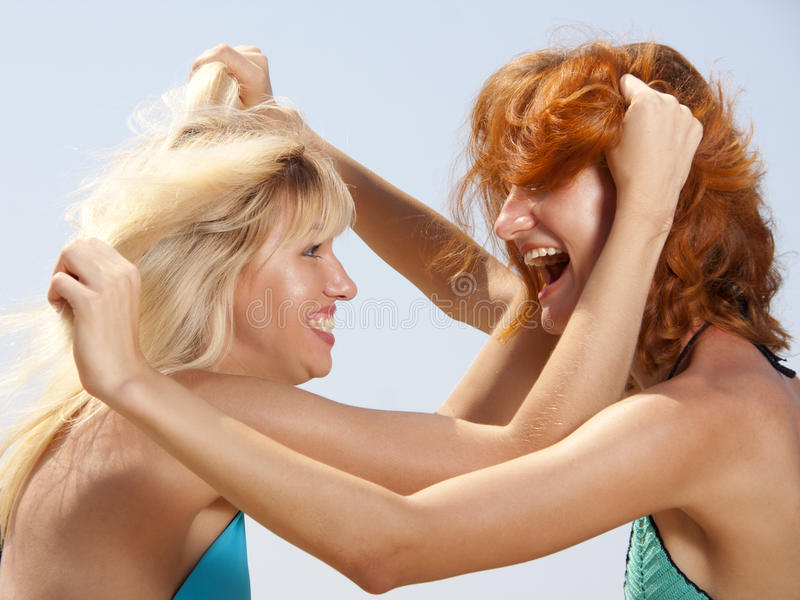 Download Two aggressive women stock photo. Image of expressing - 15814386