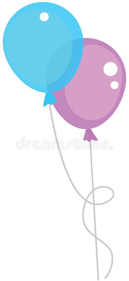 Two air balloons. Color illustr royalty free illustration