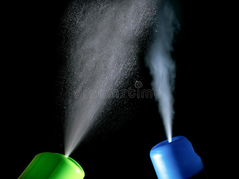 Two air freshener in different directions isolated on a black. Background royalty free stock photos
