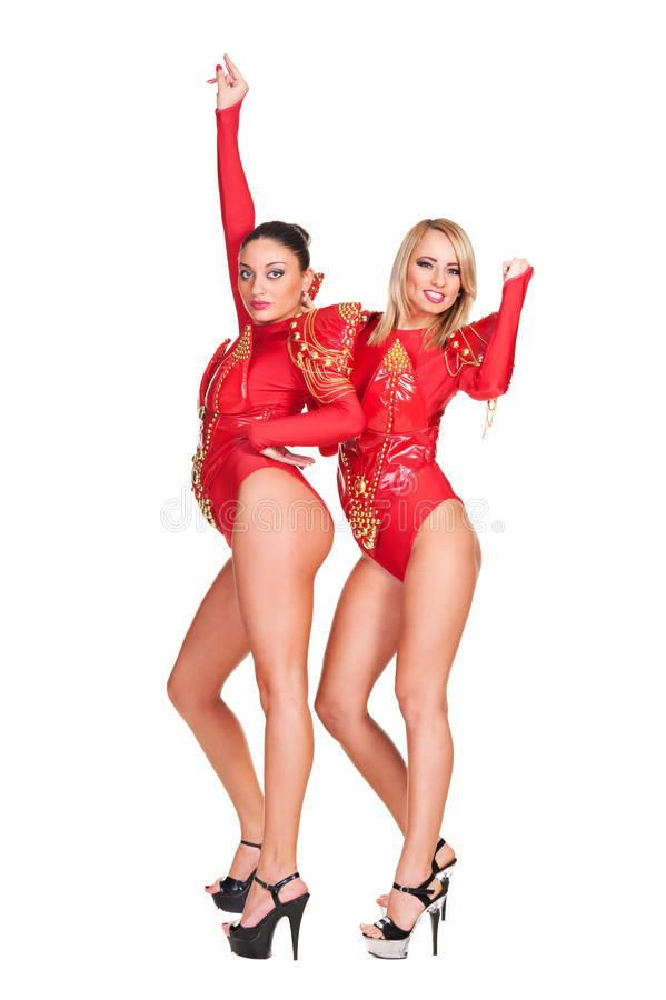 Download Two Alluring Dancers Posing Stock Image - Image: 28095479