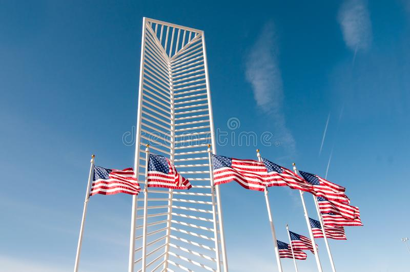 Download Two American Flags stock photo. Image of american, monumnet - 8225672