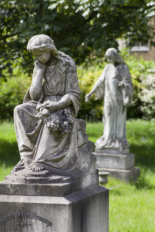 Download Two angels stock image. Image of child, gardening, broken - 32025665