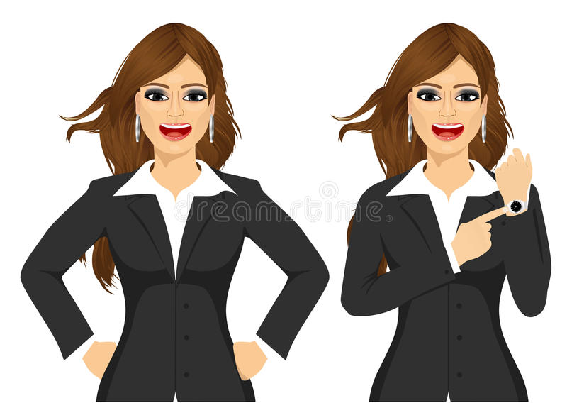 Two angry businesswomen royalty free illustration