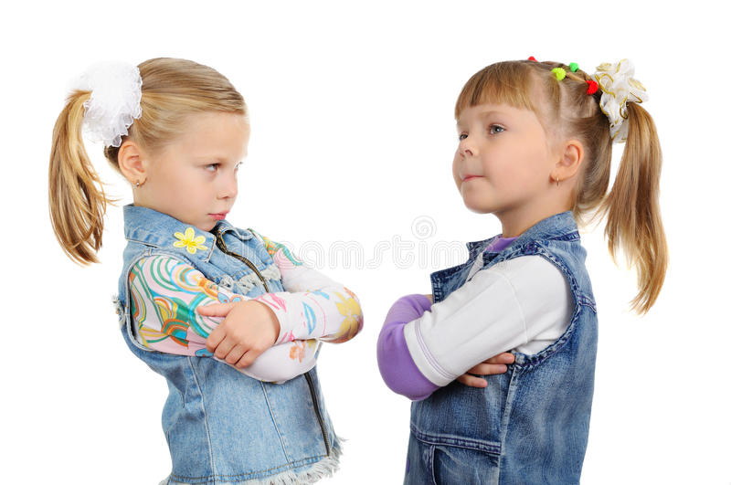 Download Two angry little girls stock photo. Image of emotion - 17222510