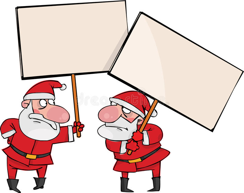 Download Two angry Santa stock vector. Image of cartoon, yuletide - 16364981