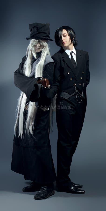Two anime characters. Studio cosplay stock image