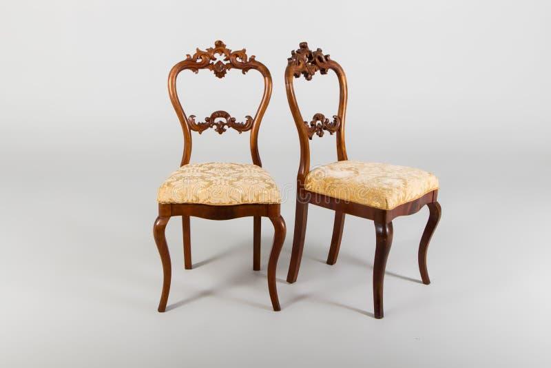 Two antique armchair stock photos