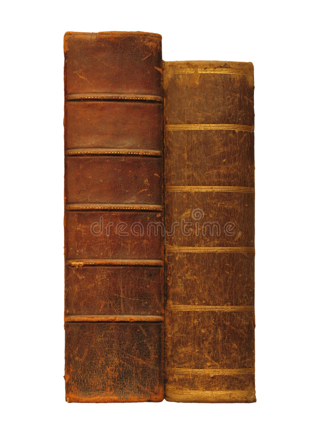 Download Two Antique Books, Isolated On White Stock Photo - Image: 8485630