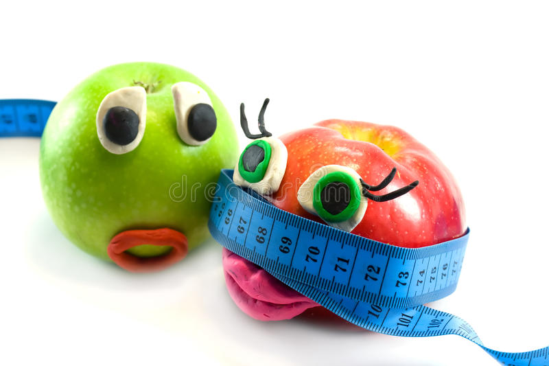 Download Two apples stock image. Image of fruits, eyes, green - 10786079