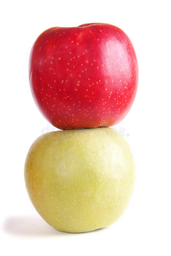 Download Two apples stock image. Image of apples, isolated, full - 12750275