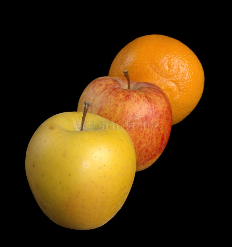 Two Apples And An Orange Free Stock Photo