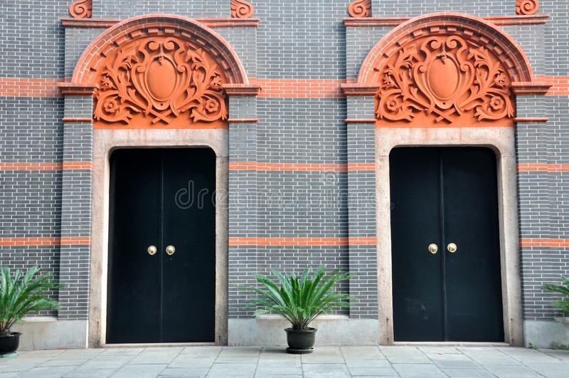Download Two Architecture Door With Carve Detail Stock Photo - Image: 21569492