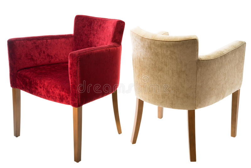 Two arm-chairs stock images