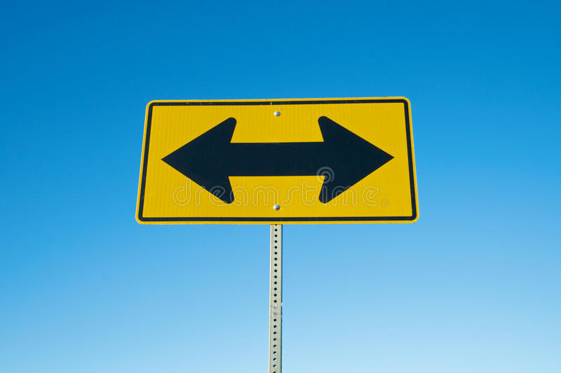 Two Arrow Road Sign royalty free stock images