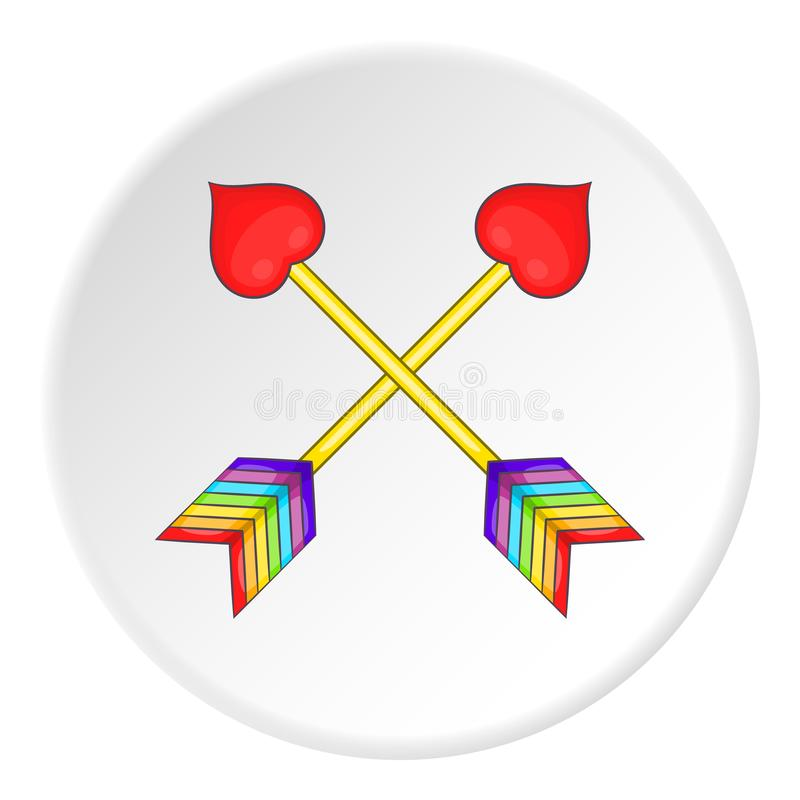 Two arrows LGBT icon, cartoon style royalty free illustration