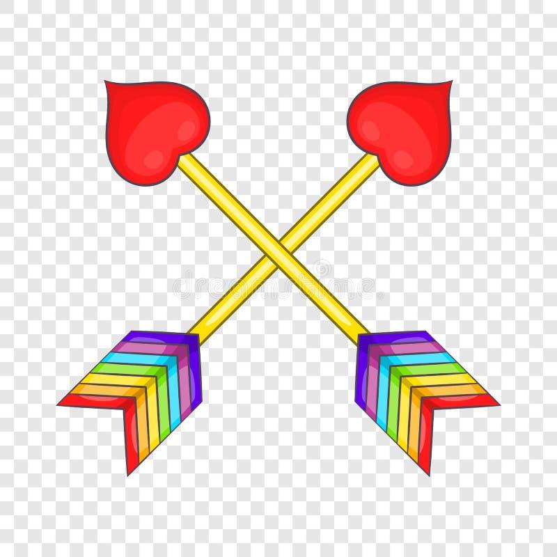 Two arrows LGBT icon, cartoon style stock illustration