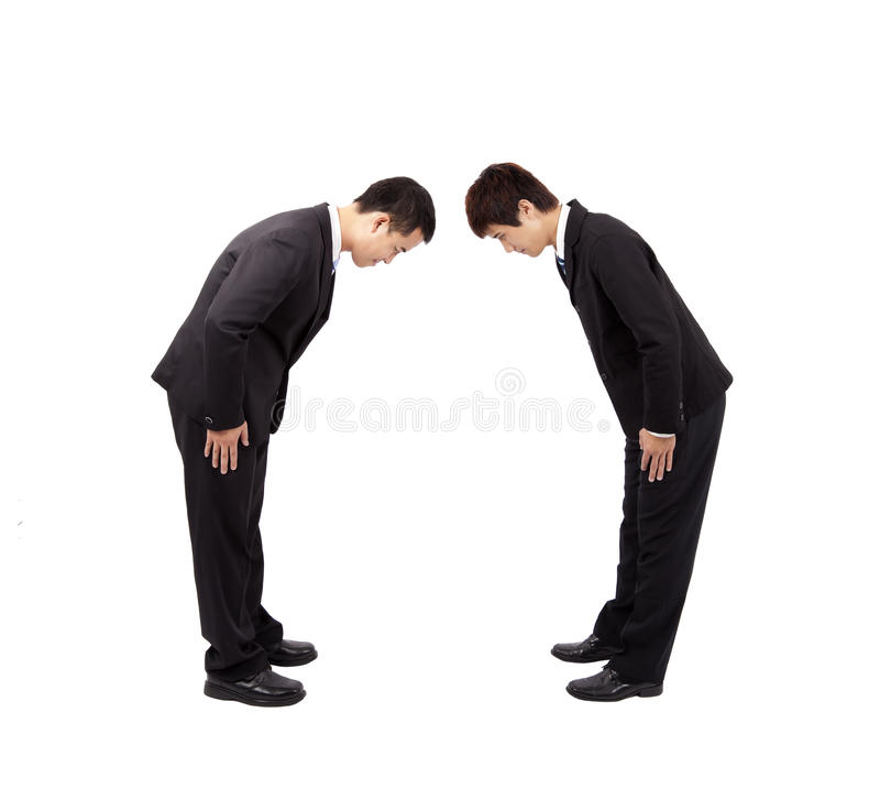 Two Asian Businessman Stock Photography