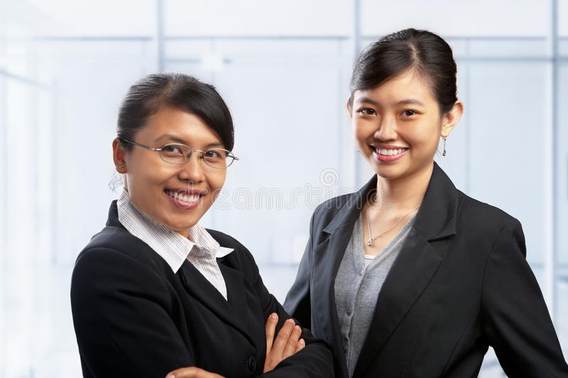 Download Two Asian Businesswoman In Office Stock Image - Image: 13096081