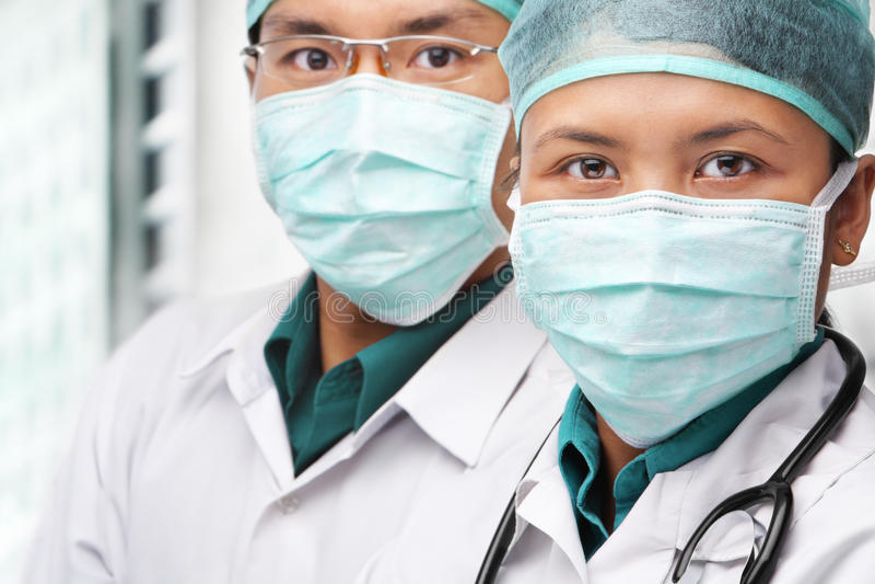Download Two Asian Surgeon Posing To Camera Stock Image - Image: 12321935